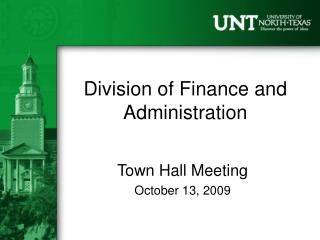 Division of Finance and Administration