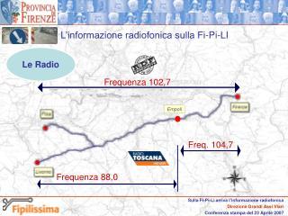 L'informazione radiofonica sulla Fi-Pi-LI