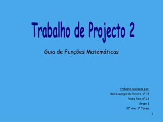 Trabalho de Projecto 2