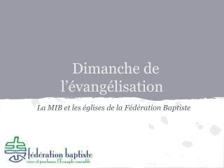 Dimanche de l'évangélisation