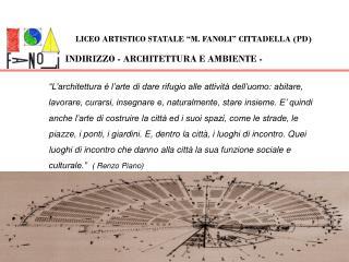 INDIRIZZO - ARCHITETTURA E AMBIENTE -