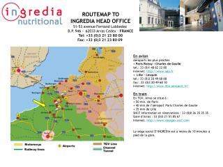 ROUTEMAP TO INGREDIA HEAD OFFICE