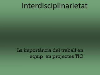 La importància del treball en equip  en projectes TIC