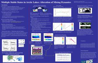 Multiple Stable States in Arctic Lakes: Alteration of Mixing Dynamics