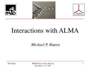 Interactions with ALMA