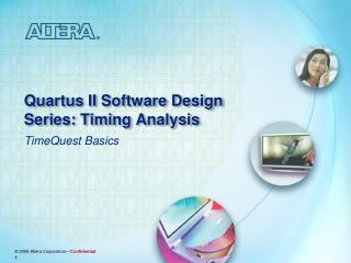 Quartus II Software Design Series: Timing Analysis