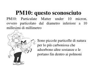 PM10: questo sconosciuto