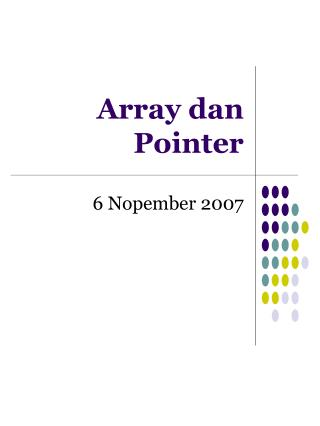Array dan Pointer