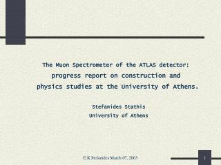The Muon Spectrometer of the ATLAS detector: progress report on construction and