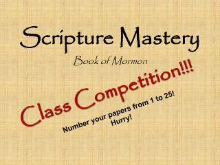 Scripture Mastery
