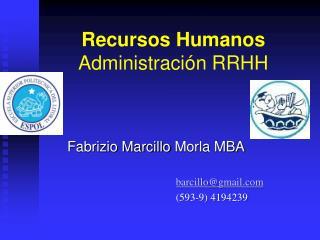 Recursos Humanos Administraci�n RRHH