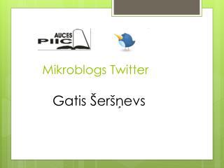 Mikroblogs Twitter