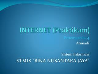 INTERNET (Praktikum)