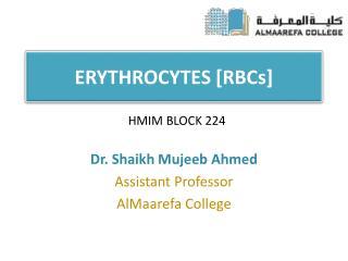 ERYTHROCYTES  [RBCs]