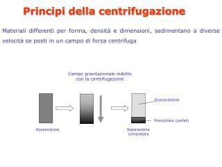 Principi della centrifugazione