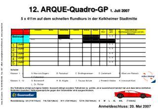 12. ARQUE-Quadro-GP  1. Juli 2007 5 x 411m auf dem schnellen Rundkurs in der Kelkheimer Stadtmitte