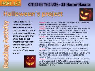 CITIES IN THE USA -  13 Horror  Haunts