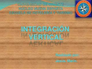 UNIVERSIDAD DE ORIENTE NÚCLEO NUEVA ESPARTA ESCUELA DE HOTELERÍA Y TURISMO