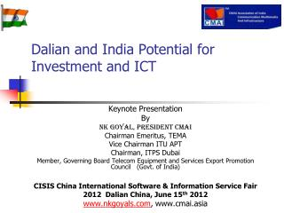 Dalian and India Potential for Investment and ICT