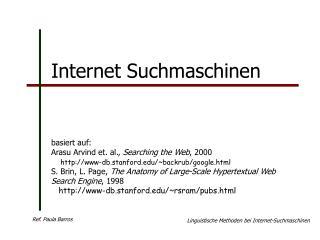 Internet Suchmaschinen