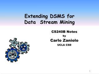 Extending DSMS for  Data  Stream Mining