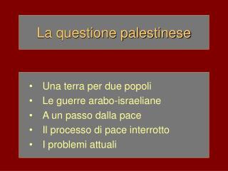 La questione palestinese