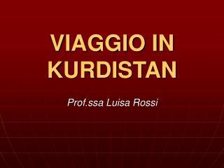 VIAGGIO IN KURDISTAN