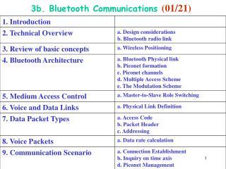 3b. Bluetooth Communications  (01/21)