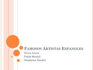 Famosos Artistas Espanoles