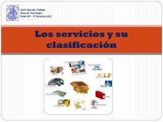 Los servicios y su clasificación