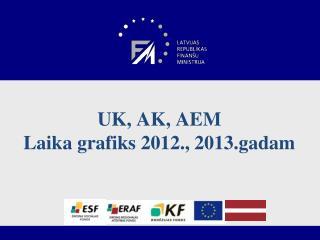 UK, AK, AEM Laika grafiks 2012., 2013.gadam
