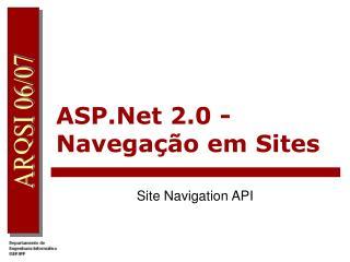 ASP.Net 2.0 - Navega��o em Sites