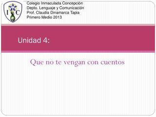 Unidad 4: