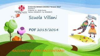 Scuola Villani POF  2013/2014