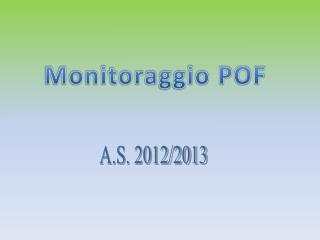 Monitoraggio POF