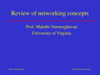 Review of networking concepts