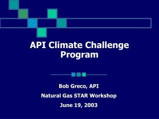 API Climate Challenge Program