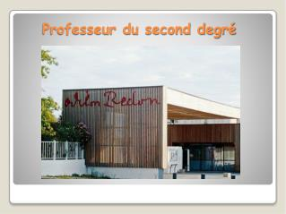 Professeur du second degré