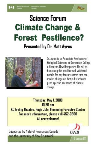 Climate Change &  Forest  Pestilence?