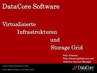 DataCore Software Virtualisierte           Infrastrukturen       und  Storage Grid
