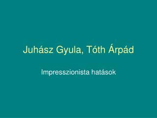 Juhász Gyula, Tóth Árpád