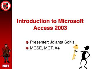 Introduction to Microsoft Access 2003