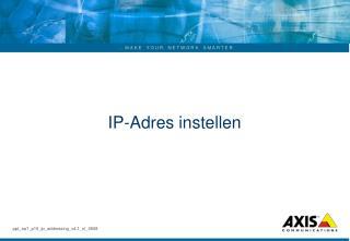 IP-Adres instellen