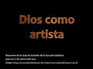 Dios como artista