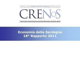 Economia della Sardegna 18° Rapporto 2011