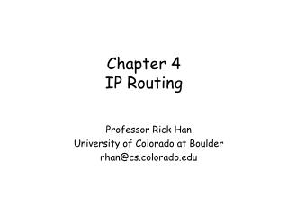 Chapter 4 IP Routing