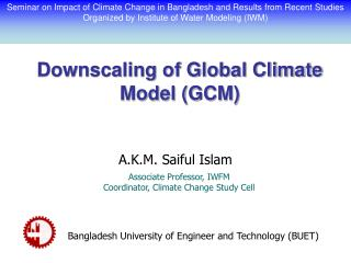 Downscaling of Global Climate Model (GCM)