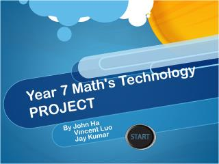 Year 7 Math's Technology PROJECT