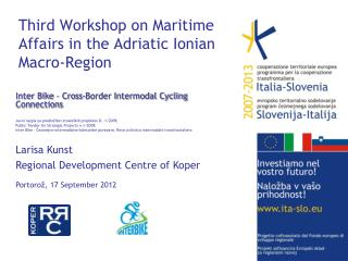 Third Workshop on Maritime Affairs in the Adriatic Ionian Macro-Region