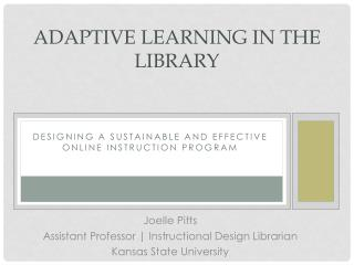 Adaptive Learning in the Library
